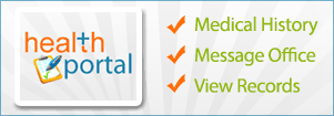 health portal: Medical History, Message Office, View Records