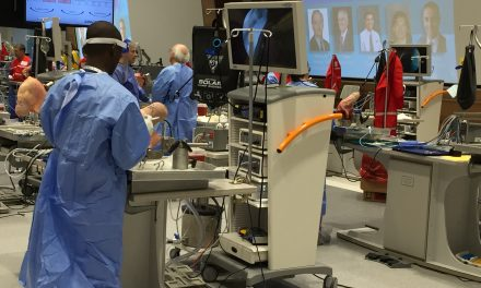 Dr. Jeffrey Zilberfarb helps to teach a course for Arthroscopy Association of North America